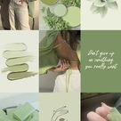 Spice up your room with this aesthetic sage green photo collage kit!