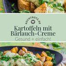 Kartoffeln mit Bärlauch-Creme