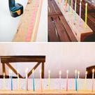 A festive DIY Candelabra for you next birthday bash!