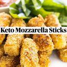 Keto Mozzarella Sticks
