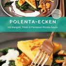 Knusprige Polenta-Ecken mit Mangold & Pilzen