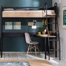 New York Compact hoogslaper tienerbed met bureau 190 x 90 cm