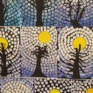 0805. Wintercrea : mozaiek lucht.