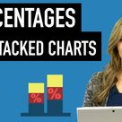 Excel Charts How To Show Percentages in Stacked Charts in addition to values