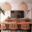Bamboo Hanging Lamp , Woven pendant light , Bamboo pendant lamp , Boho Chinese Lantern , Bamboo Lampshade , Wood Wicker Chandelier