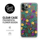 Flowers case Floral Pattern Gift for her Transparent Clear Ruber iPhone 13 phone case SAMSUNG & HUAWEI phone cover