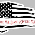 American Flag United We Stand Sticker (Select your size)