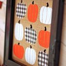 Cute Fall Sign: Pumpkins on Burlap with FOUR Kinds of HTV!