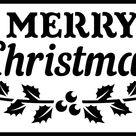 Merry Christmas - Jami Ray Vintage Stencil