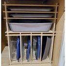 Kitchen Cabinet Baking Pan Storage Organizer