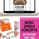 Basic Speech Concepts Activities that are Perfect for Fall!