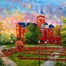 Sunset Tillman Hall in University Campus, Located in Klugh Avenue, Clemson, South Carolina-KoKing Fort-K408
