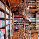 """Chronicle Books on Instagram: """"On a scale of 1 to 100 steps, how in love with this spiral staircase amidst these gorgeous books are we? #ThisIsMyLibrary 📍Municipal Law…"""""""