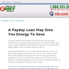A Payday Loan May Give You Energy To Save With Images Car Title