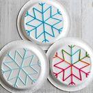 Paper Plate Snowflake Yarn Art