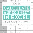 How to auto calculate grade rules in your tech pack using formulas in Excel   Courses & Free Tutorials on Adobe Illustrator, Tech Packs & Freelancing for Fashion Designers