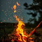 Fire Flames Night Sky 4K Ultra HD Mobile Wallpaper
