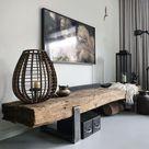 Mooie houten tafel. Ook te gebruiken als bankje. Heeft een stoere uitstraling.. Foto geplaatst door droomwoon op Welke.nl