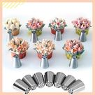 Cake Decor Piping Nozzle Set - floral piping