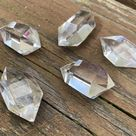 Pick Your Favorite Polished Clear Quartz Double Terminated Point, Energy Healing Crystal Gift