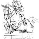 Jumping Horse Coloring Sheet
