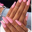 VIKSON INTERNATIONAL New Arrival 20 Pcs/Set of UV Gel finish LIGHT Pink French False Nails Nail Acrylic Full Fake NailS with 2 gm nail glue.