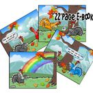 Legend of the Rainbow Turkey ebook & Coloring Story Book Play Set - kid's craft - Child's picture co