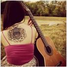 Acoustic Guitar Tattoo