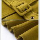 Wool Coat Cloak In Khaki Green And Gray, 100% Cashmere Jacket, Winter Coat, Hooded Coat, Wool Cape Cloak, Wool Poncho,   Linennaive