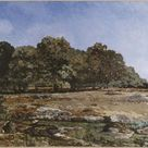 Alfred Sisley, 1865 - Edge of the forest of Fontainebleau - fine art print - Canvas print / 150x100cm - 59x39