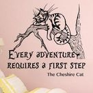 Alice In Wonderland Wall Decal Quote  I Am Not Crazy Wall Decal Quote Lewis Carroll  Cheshire Cat Quote Wall Decals Nursery Bedroom Q169