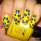 Yellow And Blue Nails