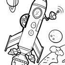 Malvorlage Rakete   Weltraum - Kostenlose Ausmalbilder