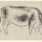 Leo Gestel, 1891 - Sketch Sheet with cow - fine art print - Canvas print / 160x120cm - 63x47