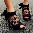 Black Lace Shoes