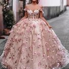 Pink A-line Off The Shoulder Custom Prom Dresses, Sweet 16 Prom Dresses, 12489 - US4 / As Picture