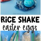 Rice Shake Easter Eggs in Ziploc Bags   Crafty Morning