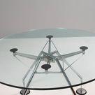Norman Foster for Tecno Nomos Circular Glass Table, 1980s