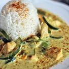 {Rezept} Erdnuss-Kokos-Curry mit Hähnchen und Reis