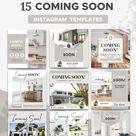 Real Estate Instagram Templates   Real Estate Marketing Social Media   Realtor Canva Template