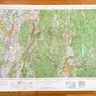 Antique Albany, New York 1962 US Geological Survey Topographic Map - Troy, Schenectady, Hudson, Catskill, Watervliet Cohoes Berkshires NY MA