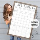 Command Center  24x36 Dry Erase Calendar  Customized | Etsy