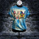 Psychedelic Gnome Love T-Shirt - M / Heather Royal