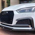 Audi A5/S5 B9 S Line Saloon Carbon Fibre Front Bumper Fog Light Surrounds   S5 / 4 Door Sportback