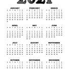 24 Pretty (& Free) Printable One Page Calendars for 2021 - Lovely Planner