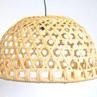 Woven Rattan Lampshade Wicker pendant lamp Basket Lamp Shade | Etsy
