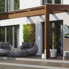 Skanholz Terrassendach Novara, BxT: 450x309 cm