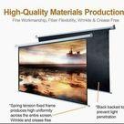 Projector Screen Retractable Projection Screens 100 inch 8K 3D Ultra HD 16:9 Outdoor Indoor Movie Screen Easy Installation 5 Core SCREEN 100  ⭐⭐⭐⭐⭐Ratings ✔️ Best Deal