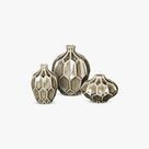 Vase Amalfi Keramik, taupe grau - 11,5 x h15 cm s/3