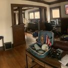 [Moundview Cedar Rapids Iowa USA] My American Craftsman Foursquare Kit Home built in 1910   Livingroom. Almost there Just need some art  home homedesigns design homeideas roomideas room rooms house housedesigns roomdesigns